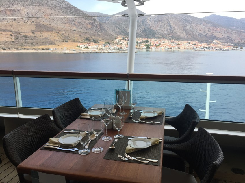 Lunching overlooking Monemvasia