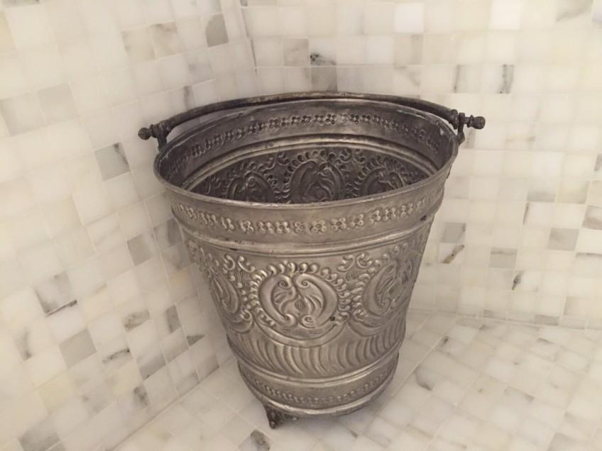 Kazan: an ornate silver bucket