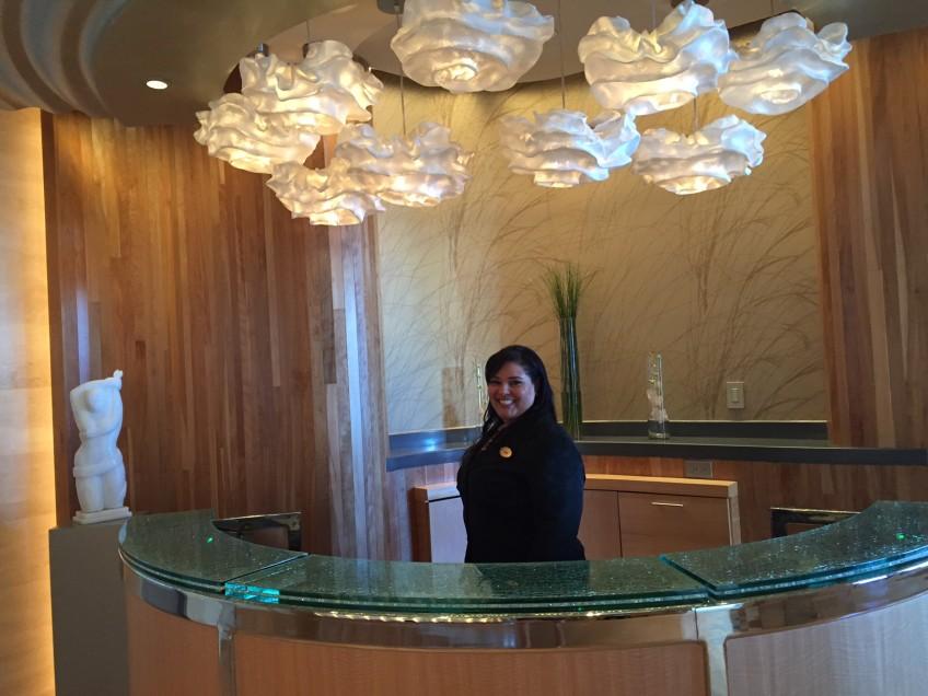 Helen Lugo, the ever-delightful Executive Spa Director