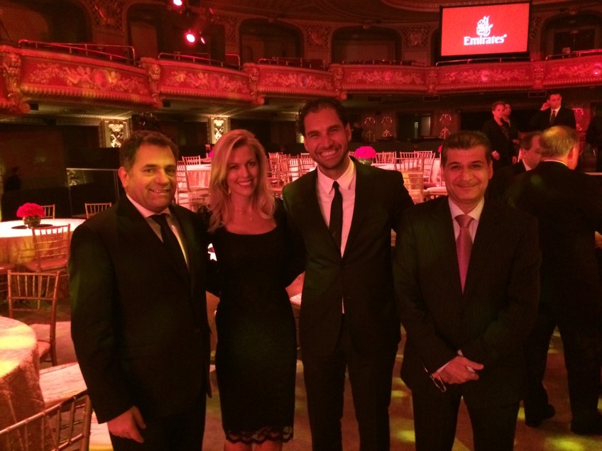 Emirates Gala. Photo with Boutros Boutros, Divisional Senior Vice President Corporate Communications, Marketing & Brand at Emirates, Chadi Chahine, CFO at Smith&Nephew and Adel Al Redha, Executive Vice President and COO at Emirates.