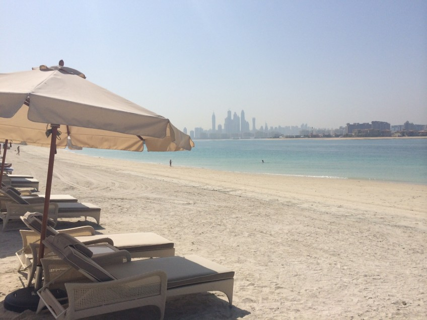 Soak in the sun on the Palm Jumeirah