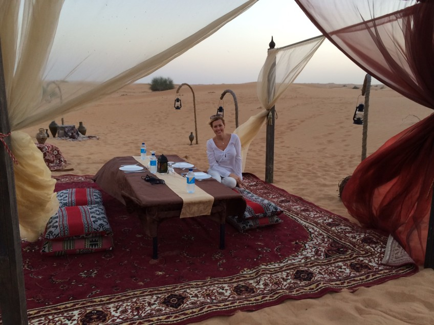 Experience a Bedouin style dinner in the desert