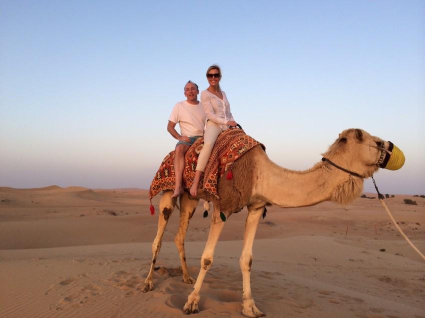 Camel Riding with my longtime friend, Jonathan Soroff