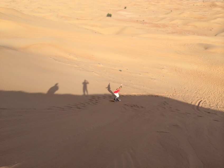 Sand Boarding – I didn't fall once!