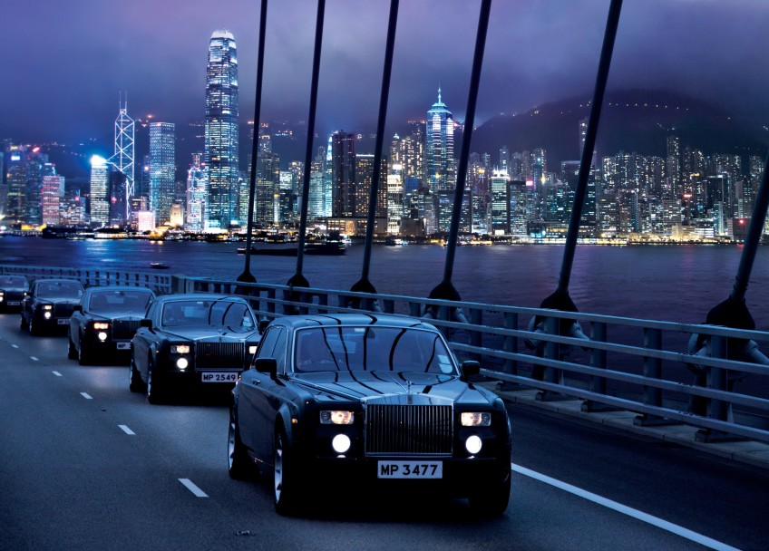 Peninsula Moments - The Rolls-Royce Fleet on Tsing Ma Bridge (horizontal - mid)