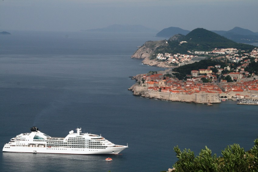 Seabourn Odyssey in Dubrovnik, Croatia